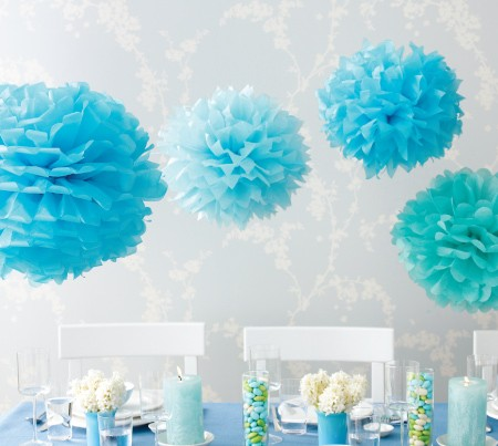 diy project tissue paper pom poms. Black Bedroom Furniture Sets. Home Design Ideas