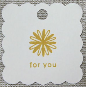 hand stamped tag for favors and more