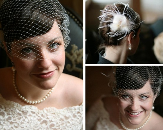 Celebrate Your Big Day Without Spending Big DIY Bird Cage Veil