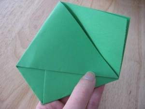handmade green wedding seed envelope favor