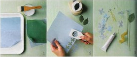 instructions for fabric punched flowers