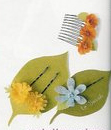 fabric punched hair pins and comb