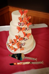 beautiful 3 tier butterfly marshmallow wedding cake