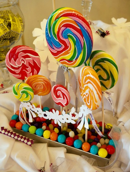 Diy centerpiece project lollipop candy
