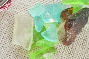 homemade diy sea glass candy wedding favor recipe beach water treat