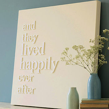 Create your own custom phrase quote lyrics canvas art for your wedding or special event. diy do it yourself wedding song