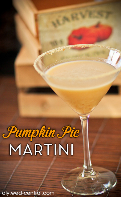 Pumpkin Pie Martini Signature Drink Recipe - Perfect for Weddings and Parties