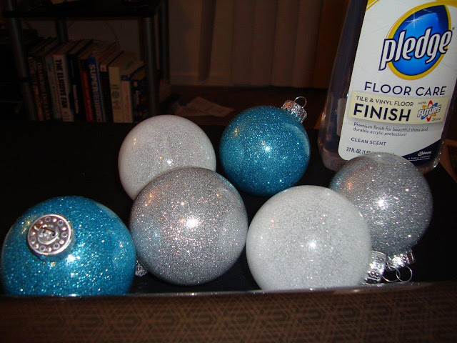 diy glitter ornaments with pledge floor wax Perfect for weddings events